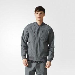 Adidas-Originals-Urban-Chaqueta-de-Chandal-Nuevo-para-Hombre-Gris-Negro-BS2515