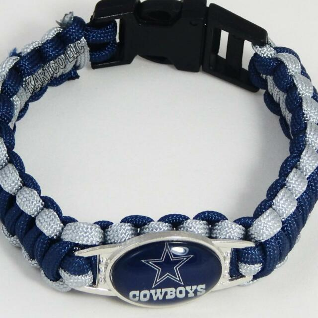 NFL Football Paracord Bracelet! - DALLAS COWBOYS