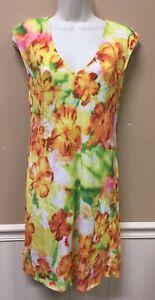 JAMS-WORLD-50-Years-Womens-Kuulei-Hawaiian-Print-Dress-Rayon-Size-XS