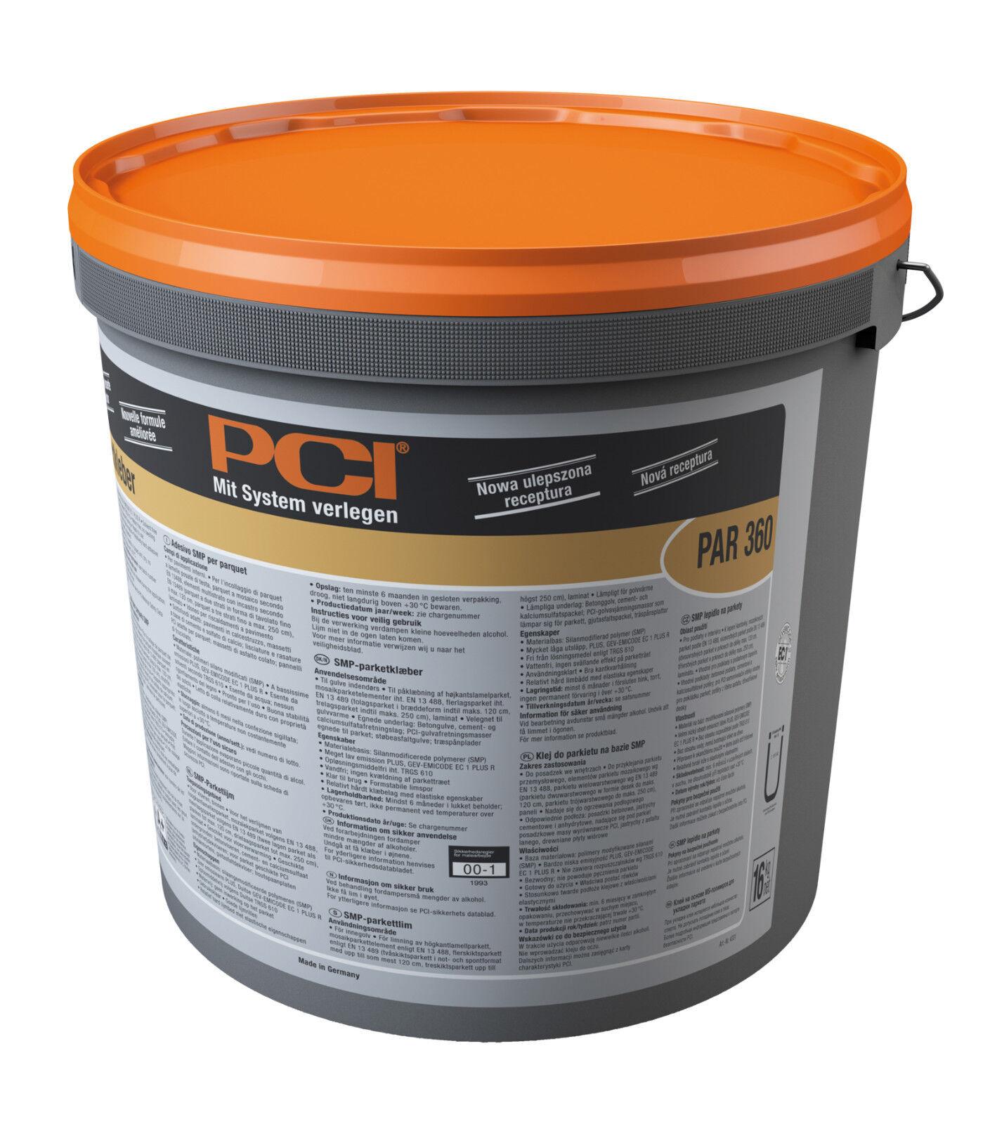 PCI Par 360 SMP-Parkettkleber 16 kg SMP-Klebstoff für Böden im Innenbereich