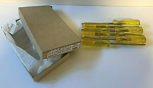 Vintage-NOS-Unused-Irwin-Brand-Screwdrivers-Full-Box-of-6-Flat-Tip-Lot-2
