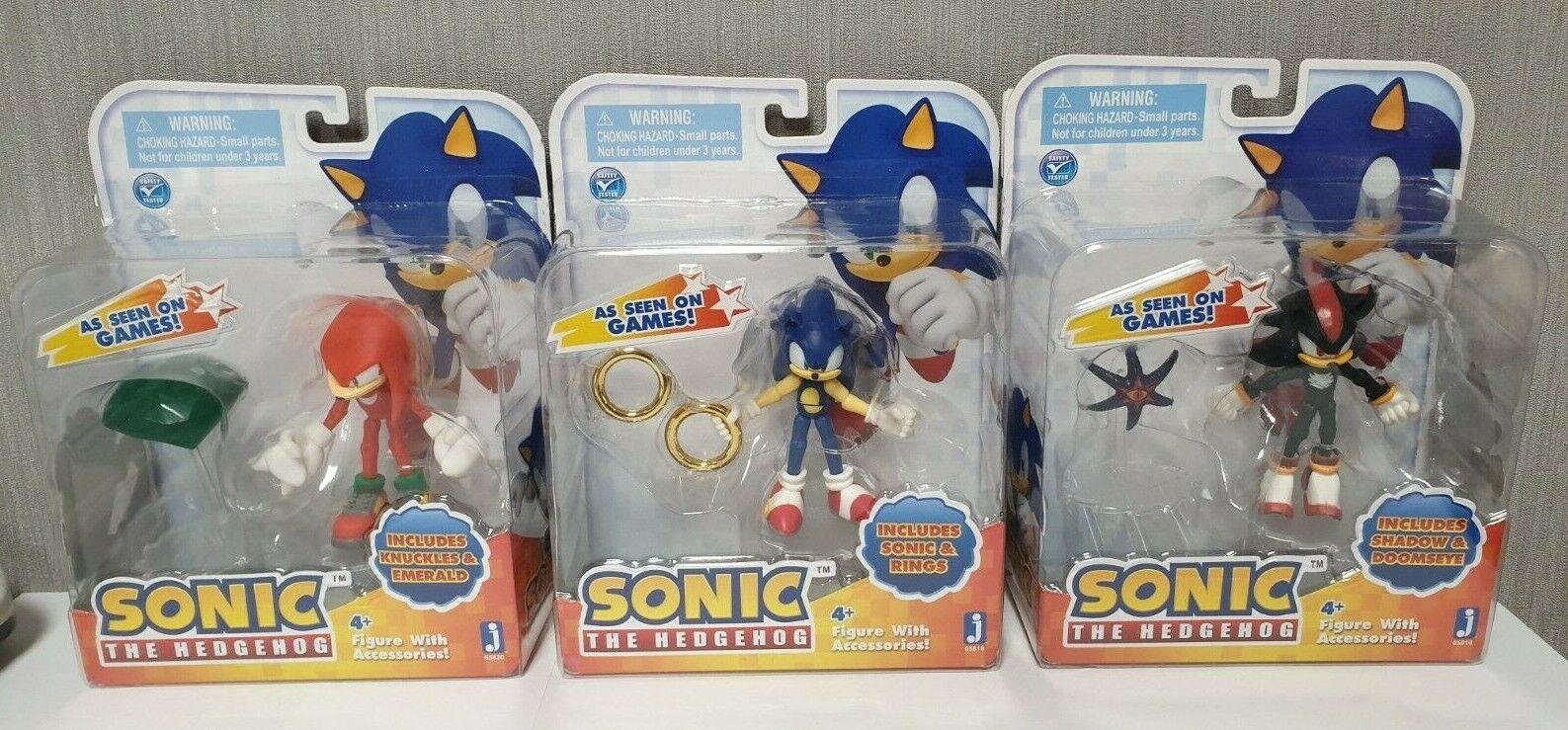 Lot de 3 figurines Jazwares Sonic (Anneaux + Doom's Eye + Master em) d'origine NEUF RARE