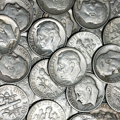 $1 Face Value - 90% Silver U S  Coins - Roosevelt Dimes Great Buy!   eBay