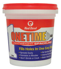 New Red Devil 0548 Onetime Spackling Pint