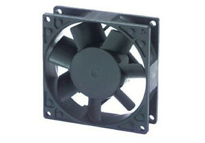Ventola-assiale-220-Vca-80x80x25-metallo-alluminio-su-cuscinetti-cooling-fan