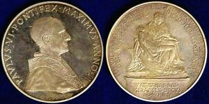 Ambitieux Médaille Vatican Pape Paolo Vi° Annuel 1964 Opus Gandhi § M65 En Quantité LimitéE