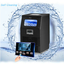 Smad Commercial Ice Maker Under Counter Self Clean 88 Lbs24h Black With Scoop