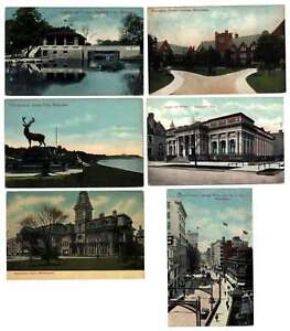 A0995 : (6) 1900's Milwaukee, Wisconsin Cartes Postales