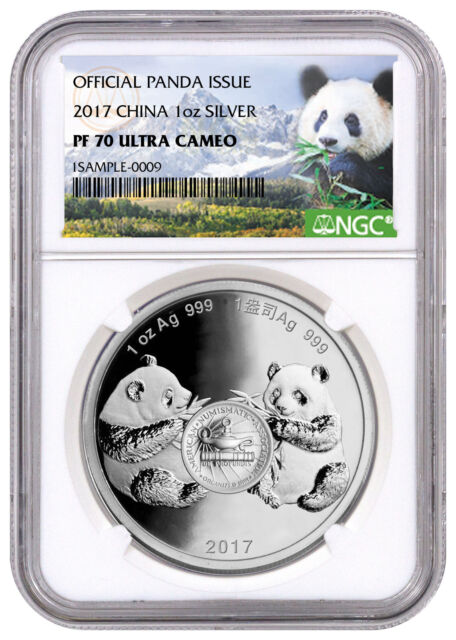 2017 China Denver ANA Money Show Panda 1 oz Silver Medal NGC PF70 UC SKU49245