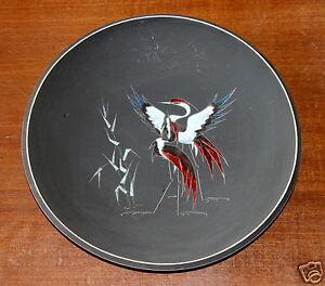 Ruscha-Grosser-Keramik-Wandteller-Bild-50-60er-Jahre-Keramik-Handarbeit
