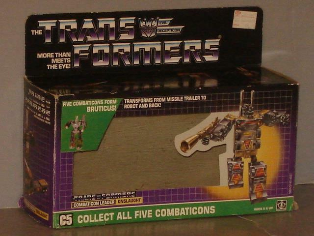 G1 TRANSFORMER BRUTICUS ONSLAUGHT EMPTY BOX LOT  ALMOST ALMOST ALMOST NO FLAP CREASE  622854