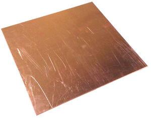 x 5 x 5 PLATE 1//8 .125 COPPER SHEET