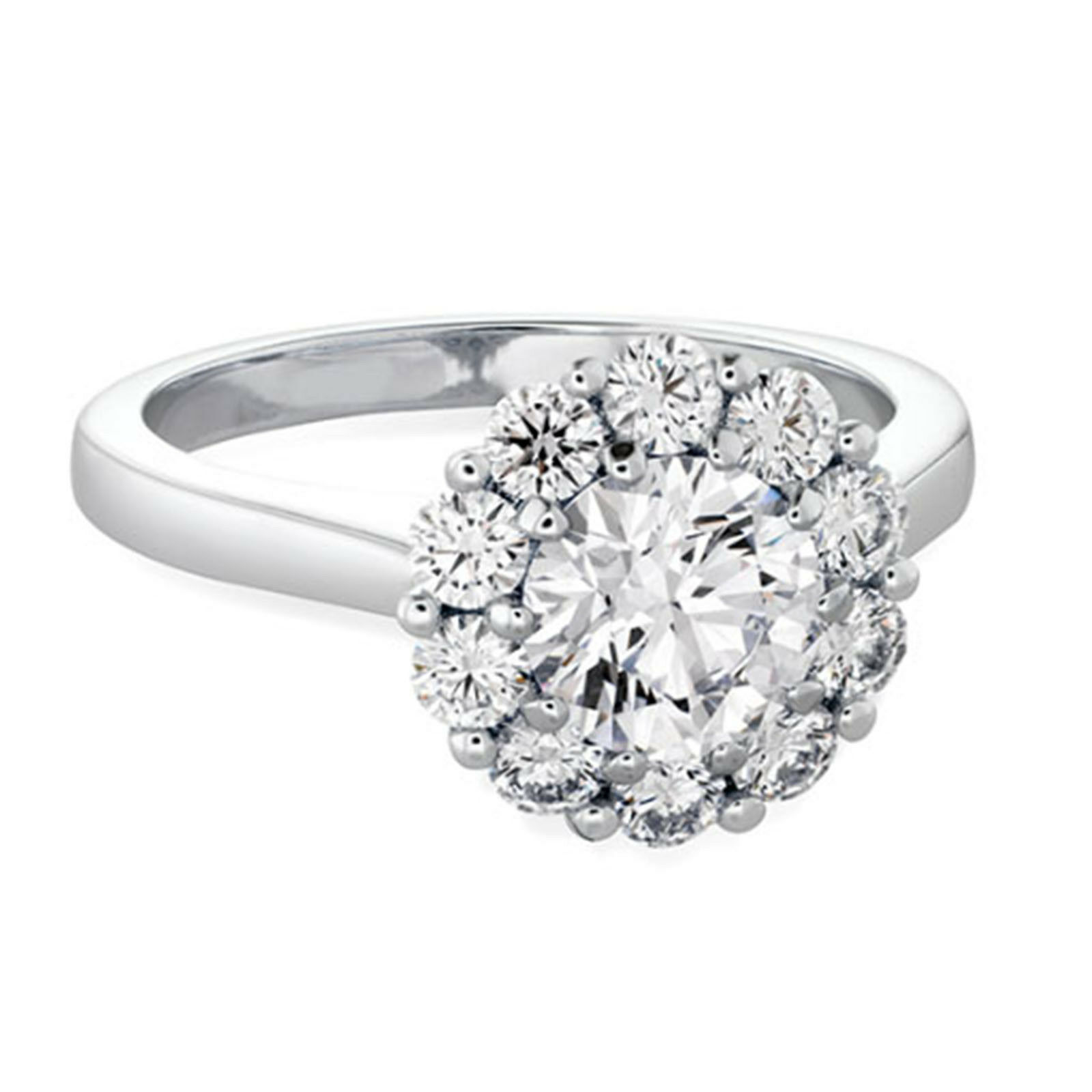 0.70 Ct Real Diamond Engagement Wedding Ring 14K Solid White gold Size 5.5 6 7 8