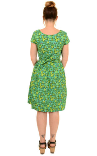 Green Cactus Print Dress by Run and Fly