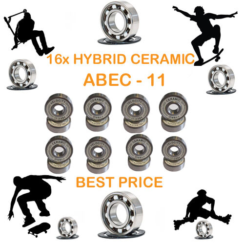 16 Precision pro Abec 11 hybrid ceramic bearing skate skate skate inline Skateboard scooter 0fd5e6