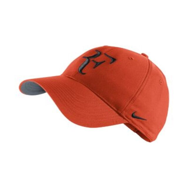 NEW Nike Hybrid RF Roger Federer Hat 371202-891 Team Orange   Black Cap dbc73b83859