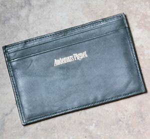 Vintage-Audemars-Piguet-green-real-leather-notepad-with-wallet-sleeves-on-back