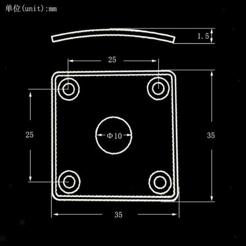 4-teilige quadratische Metallgitarren-Klinkenabdeckung für LP-E-Gitarren