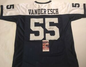 76065f065 Image is loading Leighton-Vander-Esch-Autographed-Dallas-Cowboys-Jersey-JSA-