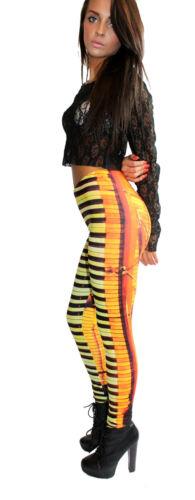 Mesdames Alternative musique piano imprimé bloc à motifs legging taille 8-22