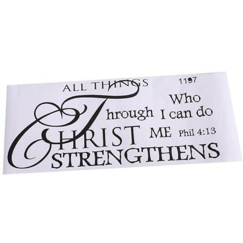 Decals Art Lettering DIY I Can Do All Things Words Sticker Murals Home Room FI