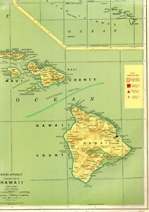 graphic about Printable Map of Hawaiian Islands named Information and facts concerning 1963 Common Hawaii Map Exceptional POSTER PRINT Dimension Map Hawaiian Islands Map #3739