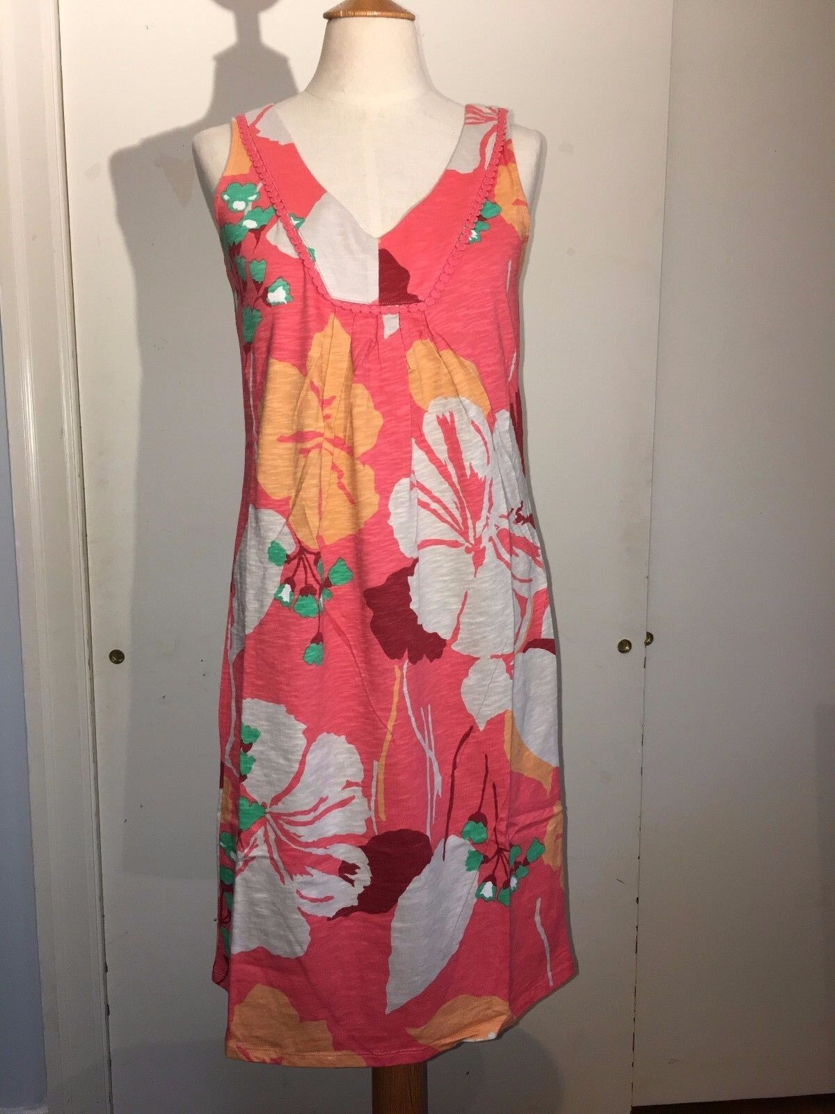 BODEN  TARIFA Summer Soft Red Hibiscus Dress  WH499  4 L NEW  108
