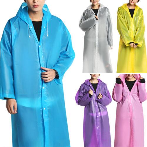 Unisex Fashion Wasserfeste Jacke Durchsichtig Regenmantel Kapuzenponcho Außen