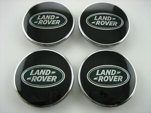 4Pcs SET BLACK /& CHROME CENTER WHEEL HUB CAPS LOGO RIMS Fit for LAND ROVER