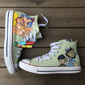 a181c3a1c9a7 Image is loading GORILLAZ-hand-painted-shoes -zapatos-pintados-scarpe-dipinte-