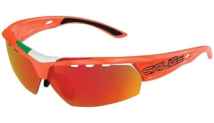 LUNETTES SALICE Mod.005ITA orange Verres Arc-en-ciel red lunettes 005ITA