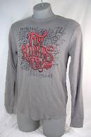 Mens Medium Fox Racing Riders Gray Red Thermal Long Sleeve Shirt $35