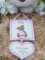 D17 Personalised Christening Baptism Naming Congratulations Gift Plaque Boy Girl
