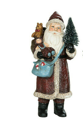 Weihnachtsmann Deko Figur  Weihnachten Christmas Shabby Chic Landhaus 15cm