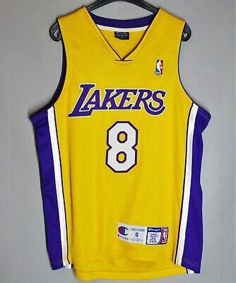 VERY RARE LOS ANGELES LAKERS AUTHENTIC JERSEY CHAMPION #8 KOBE BRYANT SIZE S NBA | eBay