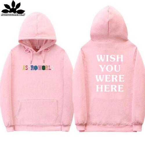 Astroworld Hoodie Sweatshirts Wish You Were Here Men Women Caps Pullover Coat