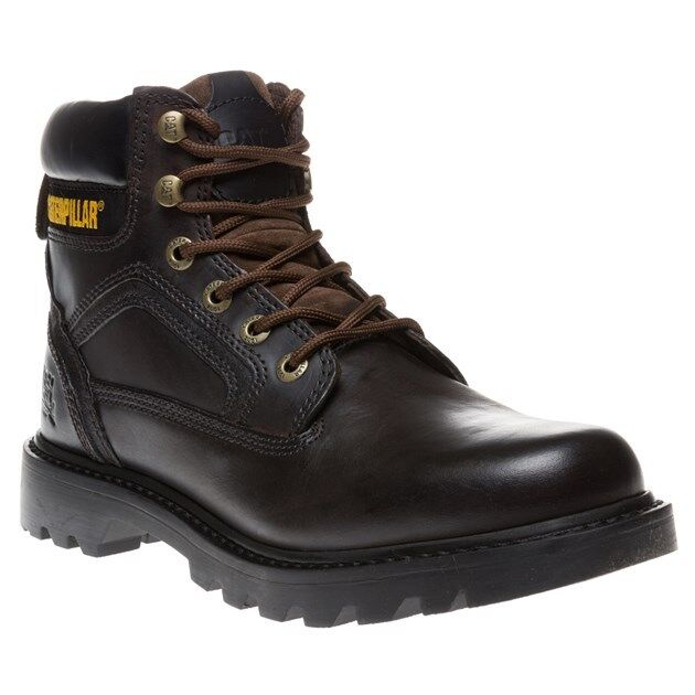 New Mens Caterpillar Brown Stickshift Leather Boots Lace Up