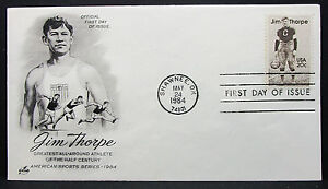 Jim-Thorpe-Illustrated-Artcraft-US-Cover-FDC-20c-Stamp-USA-First-Day-H-6355