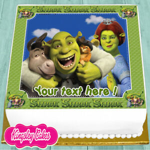 Personalized edible cake topper FREE SHIPPING in Canada SHREK