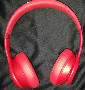 Red Beats Solo2 Wired Headphones By Dr Dre Pre Owned W Original Box New Cable Ebay