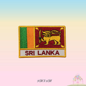 Srilanka National Flag With Name Embroidered Iron On Patch Sew On Badge Applique