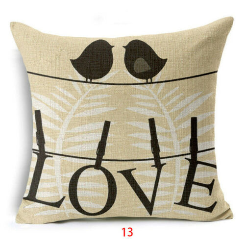 Letter Pillow Case Valentine/'s Day Throw Rose Sweet Love Square Cushion Cover
