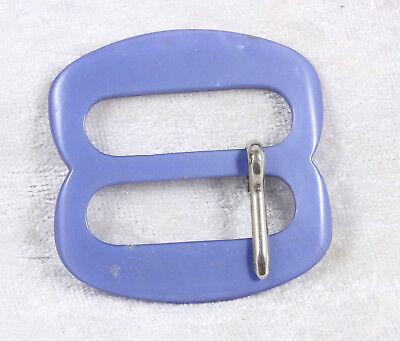 Colto Plastica A Forma Di Fibbia Della Cintura 1.5 Pollici In Tutta In Blu Vintage-mostra Il Titolo Originale