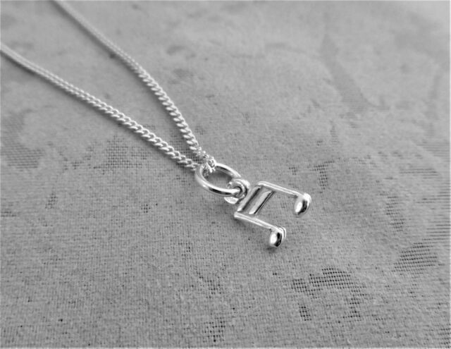 "Sterling Silver (925)  Solid 3D Charm "" Musical Notes"""