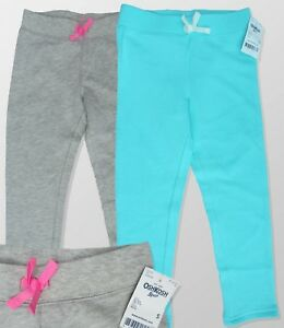 Girls OSHKOSH B'gosh Sweat Fleece Soft Pants Tracksuit Bottoms Ages 4 5 6 7 BNWT