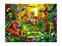 Buffalo Games Signature Series: Tiger Family In The Jungle - 10... Free Shipping