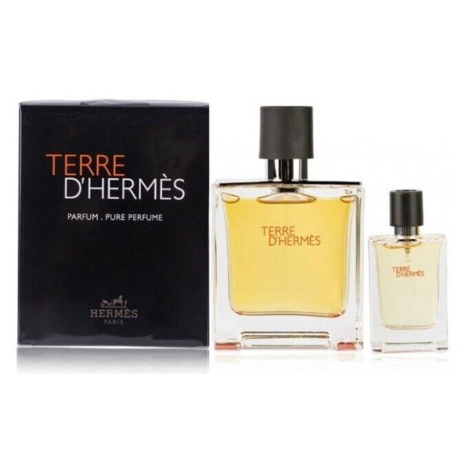 profumi: Terre D'Hermes Parfum 75ml EDP + Profumo Da Viaggio 12,5ml Cofanetto Uomo