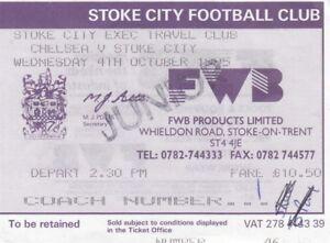 Travel Ticket  Chelsea v Stoke City 041095 Stoke City Exec Travel Club - York, United Kingdom - Travel Ticket  Chelsea v Stoke City 041095 Stoke City Exec Travel Club - York, United Kingdom