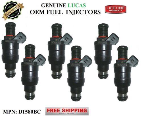 Part# D1580BC OEM Lucas Fuel Injectors Refurb 6x *Years 88-94 Ford Tempo 3.0L V6