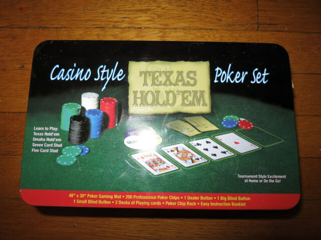 Texas holdem casino style poker set
